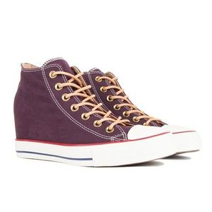 NWT Converse Chuck Taylor Lux Mid Wedge Sneakers